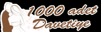 1000 adet davetiye – ₺90